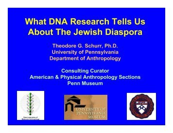 What DNA Research Tells Us About The Jewish Diaspora