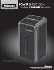Fellowes 225Mi Shredder Manual - ShreddingMachines.co.uk