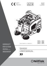 SW4000 USER MANUAL - Nilfisk PARTS - Nilfisk-Advance
