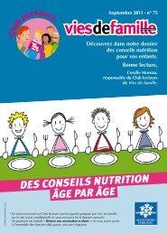 des conseils nutrition âge par âge - Vies de famille