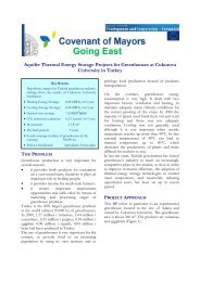 Aquifer Thermal Energy Storage Projects for Greenhouses ... - E4EM