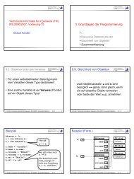 II. Grundlagen der Programmierung 9.9. Gleichheit von Objekten ...