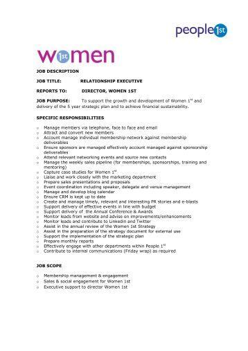 job description job title relationship women 1st - Production Associate Job Description