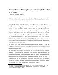 Monetary Theory and Monetary Policy in Castile during the first half ...