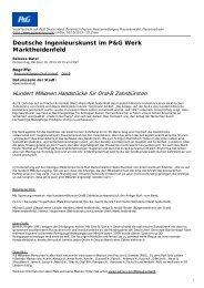Deutsche Ingenieurskunst im P&G Werk Marktheidenfeld