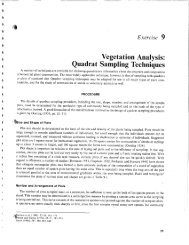 Vegetation Analysis: Quadrat Lab Sampling - Environmental ...