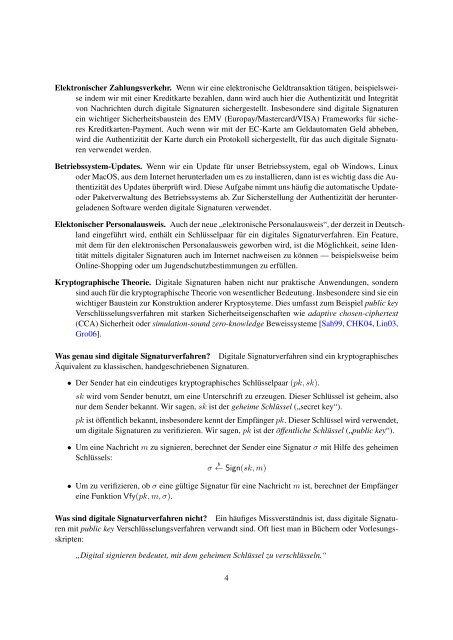 Digitale Signaturen - Tibor Jager