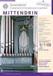 MITTENDRIN - Pfarrer gesucht!