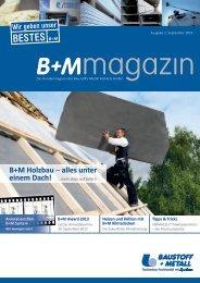 B+M Holzbau ‒ alles unter - Baustoff und Metall