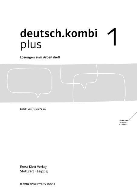 Lösungen zum Arbeitsheft - Ernst Klett Verlag