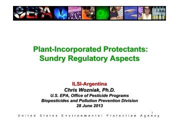 Plant-Incorporated Protectants: Sundry Regulatory Aspects Plant ...