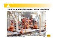 Externe Notfallplanung der Stadt Karlsruhe