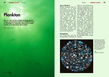 Plankton - Taucher Revue