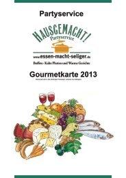 Gourmetkarte 2013 Partyservice