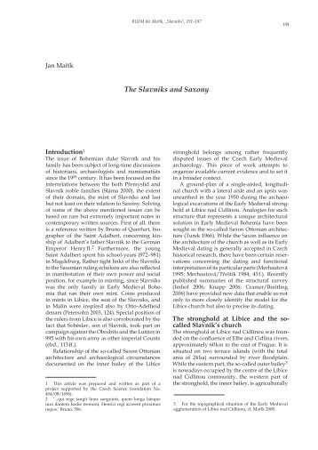 The Slavniks and Saxony
