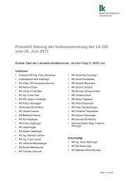 Protokoll der Vollversammlung 20.06.2013 - Landwirtschaftskammer ...