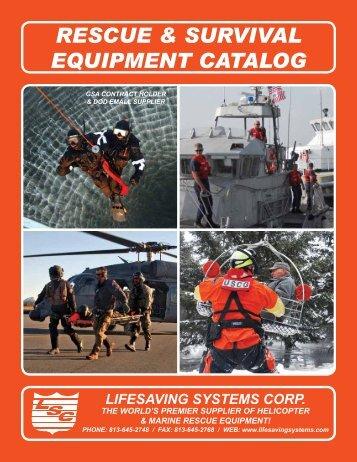 Rescue & Survival Equipment Catalog - Lifesaving Systems Corp