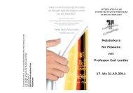 Meisterkurs für Posaune mit Professor Carl Lenthe 17. bis 21.10.2011