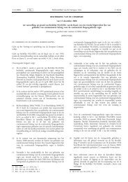 BESCHIKKING VAN DE COMMISSIE van 12 december 2008 tot ...