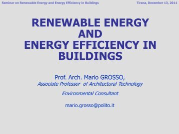 Solar energy technologies for space and water heating - active ...