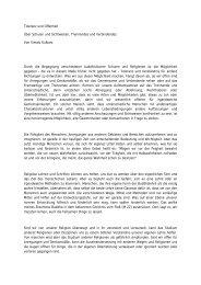 Toleranz und Offenheit Über Schulen und Sichtweisen, Trennendes ...