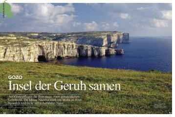 Auf Gozo pflegen die Bewohner einen gemächlichen Lebensstil. Die ...
