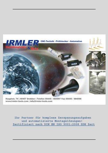 Ihr Partner für komplexe Zerspanungsaufgaben und ... - Irmler GmbH