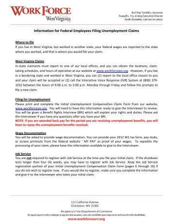 Information for Federal Employees Filing Unemployment Claims