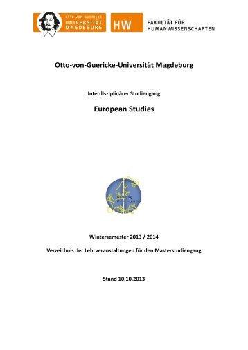 Master - European Studies - Otto-von-Guericke-Universität Magdeburg