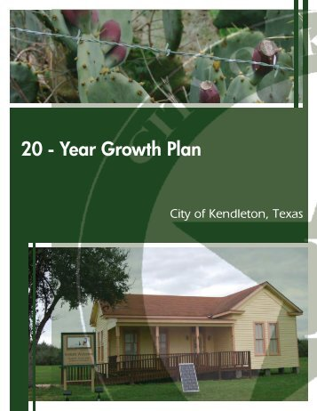 20 - Year Growth Plan - City of Kendleton