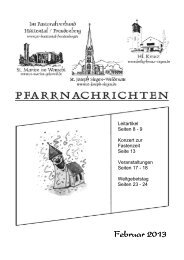 Februar 2013 - Pastoralverbund Hüttental-Freudenberg