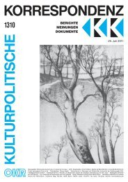 Ausgabe 1310 als PDF zum Download - Kulturportal West Ost