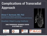 Complications of Transradial Approach - Duke Clinical Research ...