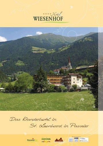 Das neue Wiesenhof-Prospekt - Hotel Wiesenhof