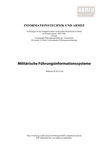 Militärische Führungsinformationssysteme - Stiftung HAMFU
