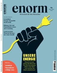 Mehr dazu im neuen Heft 4 / 2013 - Enorm
