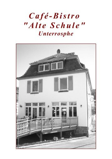 Cafe Alte Schule Unterrosphe