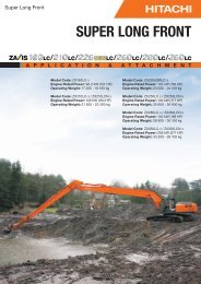SUPER LONG FRONT - Hitachi Construction Machinery
