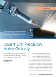 Lasers Drill Precision Holes Quickly - Society of Manufacturing ...