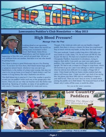 May 2013 High Blood Pressure! - Lowcountry Paddlers