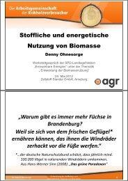 Stoffliche und energetische Nutzung von Biomasse