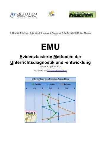 Evidenzbasierte Methoden der Unterrichtsdiagnostik ... - Bildung & ICT