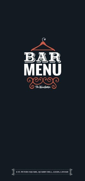 Drinks Menu (PDF) - The Wardrobe
