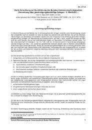 Verordnung über genehmigungsbedürftige Anlagen - 4. B