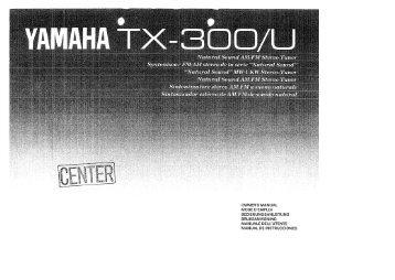 TX-300 - Yamaha