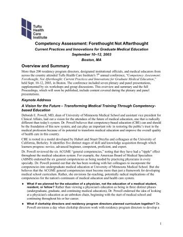 Competency Assessment: Forethought Not Afterthought Overview ...