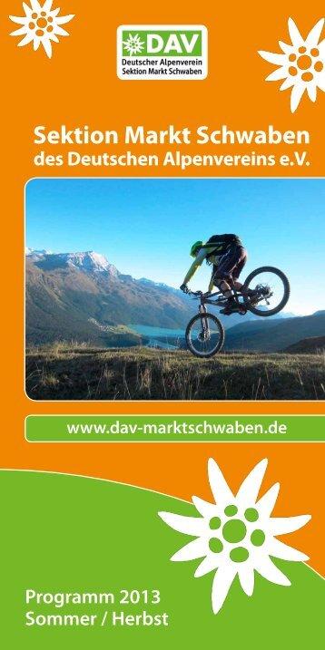 Sommer 2013 - DAV Markt Schwaben