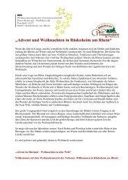 Verkehrsverein - Rüdesheimer Weihnachtsmarkt