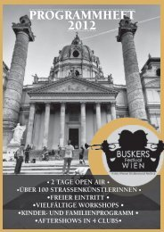 Link zum Programmheft 2012 - Buskers Festival Wien