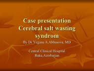 Case presentation Cerebral salt wasting syndrom